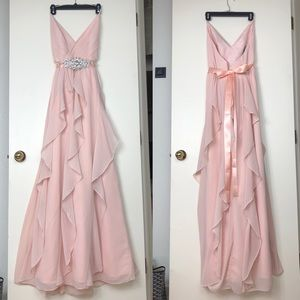 Vera Wang White- formal Bridesmaid dress BLUSH 6